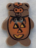 86028 - Pumpkin Teddy Bear 7/8in x 1 1/8in - 1 per pkg